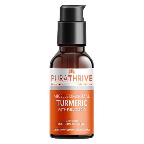 Best Turmeric Supplements - PuraTHRIVE Micelle Liposomal Turmeric Review