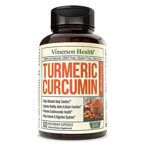 Best Turmeric Supplements - Vimerson Health Turmeric Curcumin With BioPerine Review