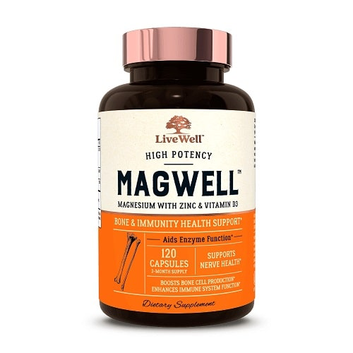 Best Magnesium Supplement - LiveWell™ Labs MagWell™ With Zinc & Vitamin D3 Review