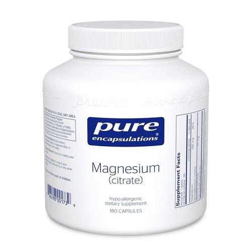 Best Magnesium Supplement - Pure Encapsulations® Magnesium (Citrate) Review