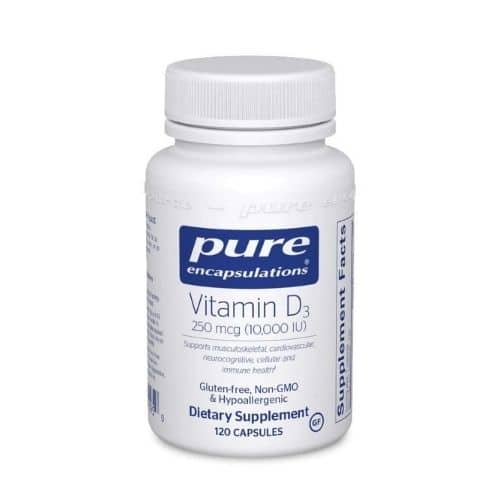 Best Vitamin D Supplement - Pure Encapsulations Vitamin D3 250 mcg (10,000 IU) Review